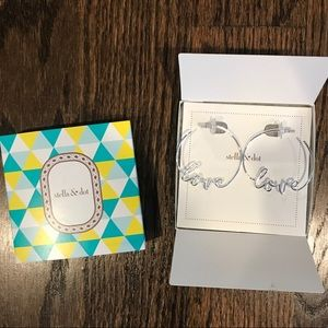 New stella and dot love hoops silver